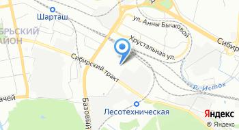Межотраслевой лесо-строительный кластер Свердловской области на карте