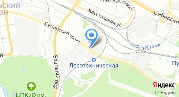 Екатеринбурская фармацевтическая фабрика на карте