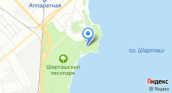 База отдыха Шарташ на карте