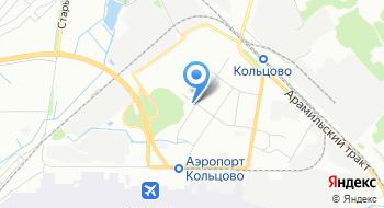Автопарковка Кольцово на карте