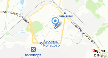 Аэропорт Кольцово, Административное здание на карте