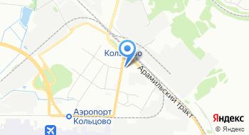 Аэропорт Кольцово на карте