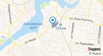 Отделение почтовой связи Алапаевск 624607 на карте