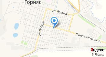 Отделение почтовой связи Горняк 658423 на карте