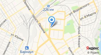 Отделение почтовой связи Барнаул 656002 на карте