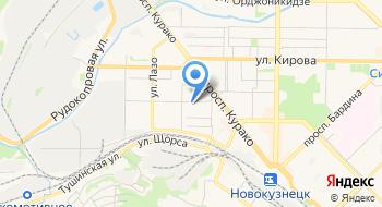 Отделение почтовой связи Новокузнецк 654079 на карте