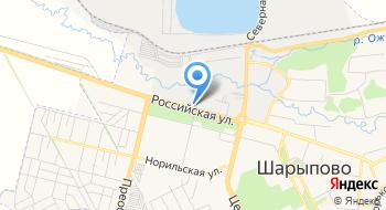 Красноярсклес Шарыповский филиал на карте