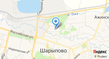 Эвакуатор в Шарыпово на карте