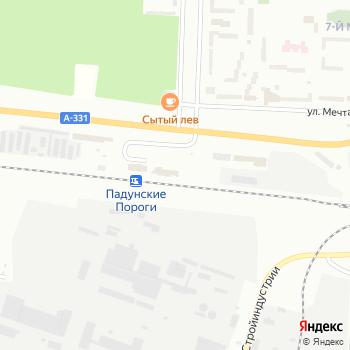 Падунские Пороги на Яндекс.Картах