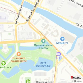 Фридландские ворота на Яндекс.Картах