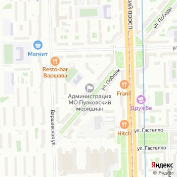 Муниципальное образование округ Пулковский меридиан на Яндекс.Картах
