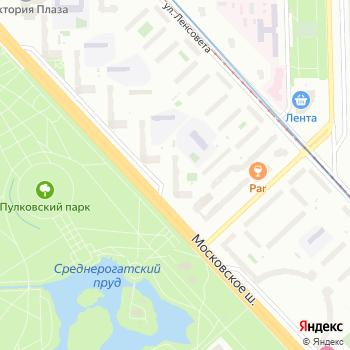 Почта с индексом 196158 на Яндекс.Картах