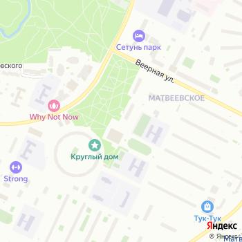 Автостоянка на Веерной на Яндекс.Картах