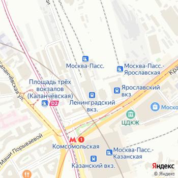 Ленинградский вокзал на Яндекс.Картах