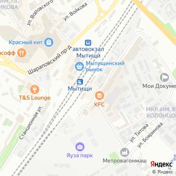 Мытищи на Яндекс.Картах