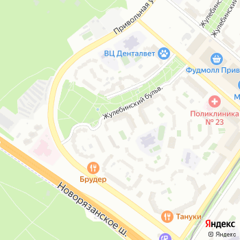 Жулебино на Яндекс.Картах