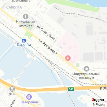 Сарептская дистанция пути на Яндекс.Картах