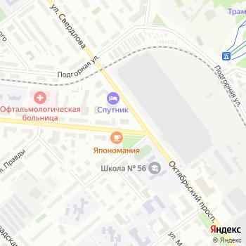 Север на Яндекс.Картах