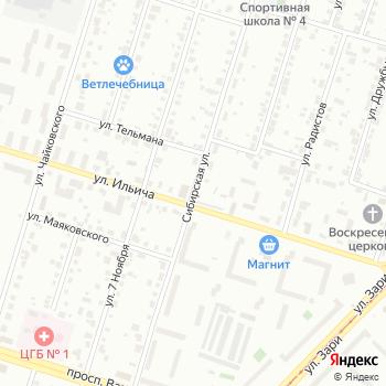 Сибирская на Яндекс.Картах