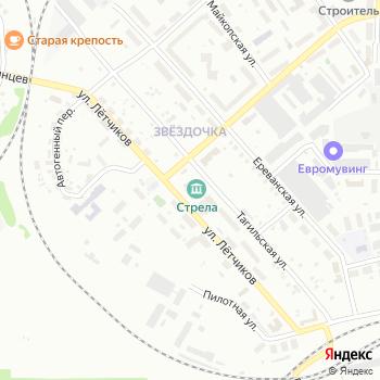 Стрела на Яндекс.Картах