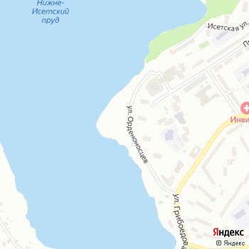 Автостоянка на ул. Орденоносцев на Яндекс.Картах