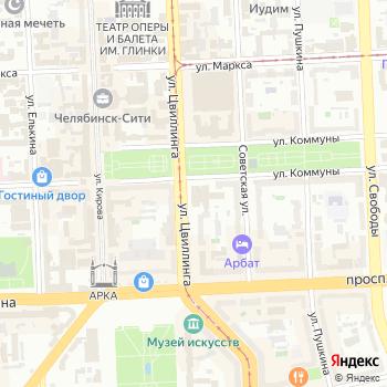 Почта с индексом 454089 на Яндекс.Картах