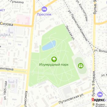 Изумрудный на Яндекс.Картах