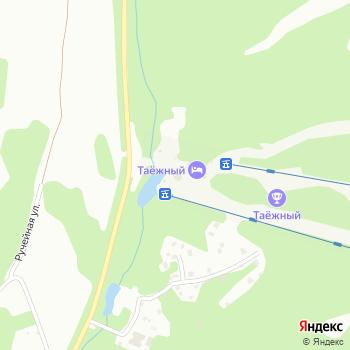 Таежный на Яндекс.Картах