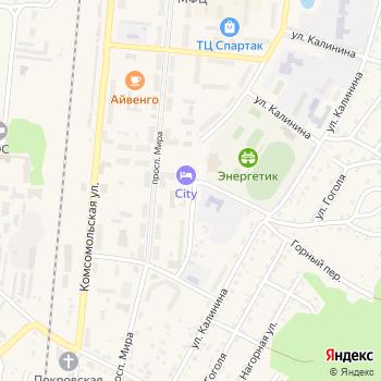 Калтан на Яндекс.Картах