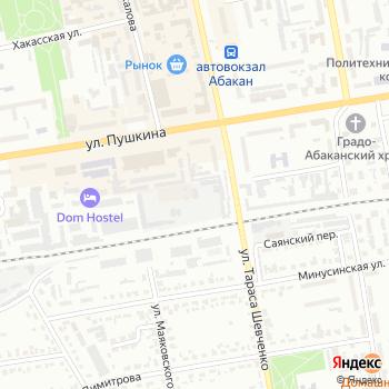 Абаканские тепловые сети на Яндекс.Картах