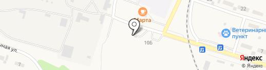 Шиномонтажная мастерская на карте Вихоревки