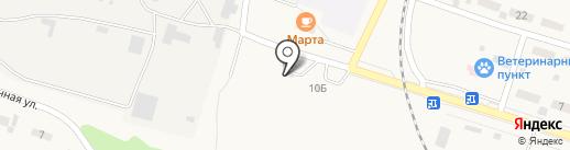 Шиномонтажная мастерская на ул. Нефтяников на карте Вихоревки