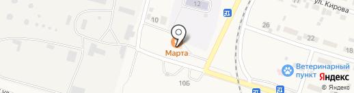 Марта на карте Вихоревки