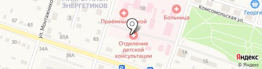 Детская поликлиника на карте Вихоревки
