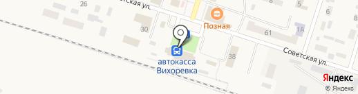 Банкомат, Банк ВТБ 24, ПАО на карте Вихоревки