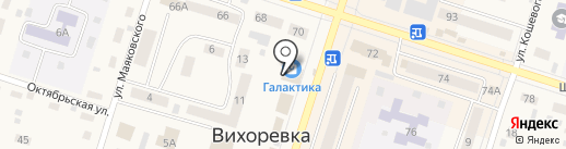 Магазин зоотоваров на карте Вихоревки
