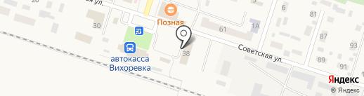 Братский линейный отдел МВД РФ на транспорте на карте Вихоревки