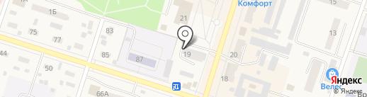 Фишка на карте Вихоревки