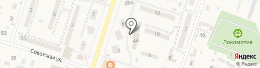 РЖД на карте Вихоревки
