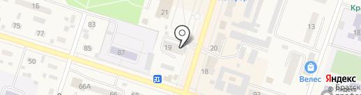 Магазин кондитерских изделий на карте Вихоревки