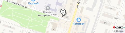 Городское сберегательное отделение, КПК на карте Вихоревки