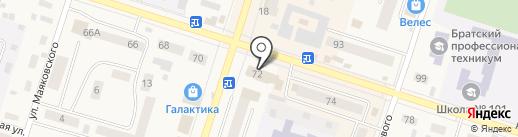 Банк ВТБ 24, ПАО на карте Вихоревки
