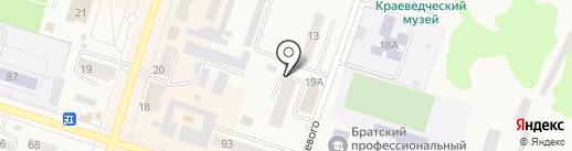 Социальный на карте Вихоревки