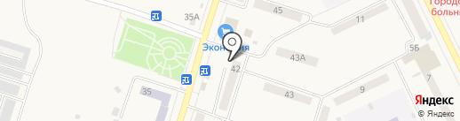 Кедр на карте Вихоревки