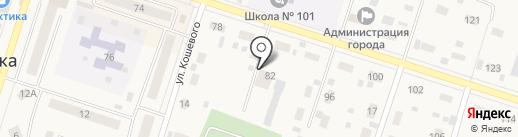 Шиномонтажная мастерскся на карте Вихоревки