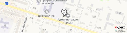 Администрация Вихоревского городского поселения на карте Вихоревки