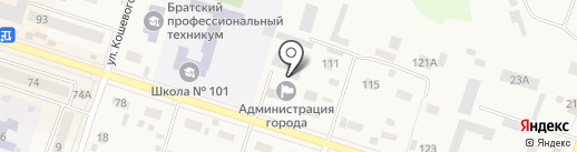 ЖилСервис, МУП на карте Вихоревки