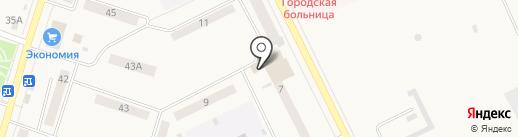 Табакерка на карте Вихоревки