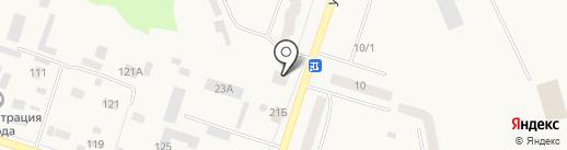 Липка на карте Вихоревки