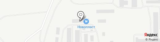 Новопласт на карте Братска